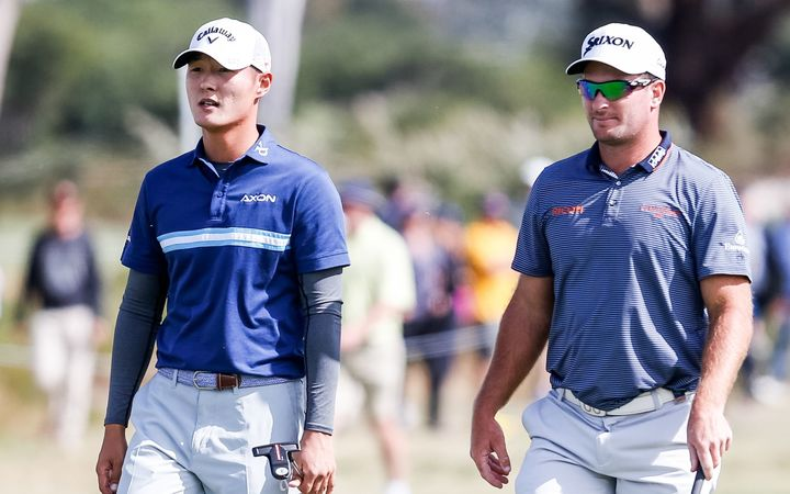 Danny Lee and Ryan Fox at the 2016 World Cup of Golf.