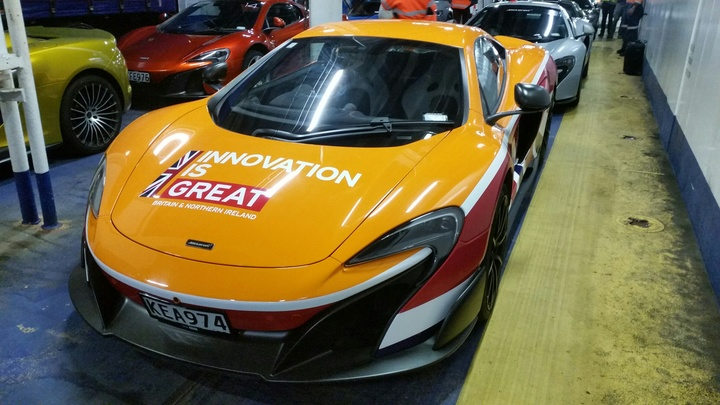 The car Derek Bell is driving a 675 LT