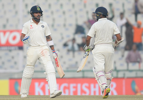 Virat Kohli (L) and Parthiv Patel (R) steer India to a Test win over England.