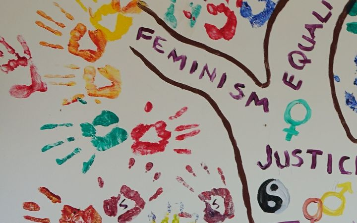 Artwork at the Fiji Women's Rights Movement's headquarters in Suva, Fiji