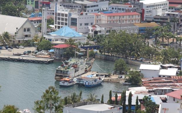 Jayapura Harbour, Papua province, Indonesia