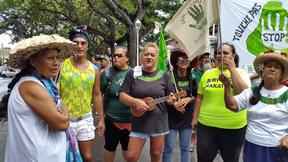 Papeete protest against resumption of phosphate mining on Makatea