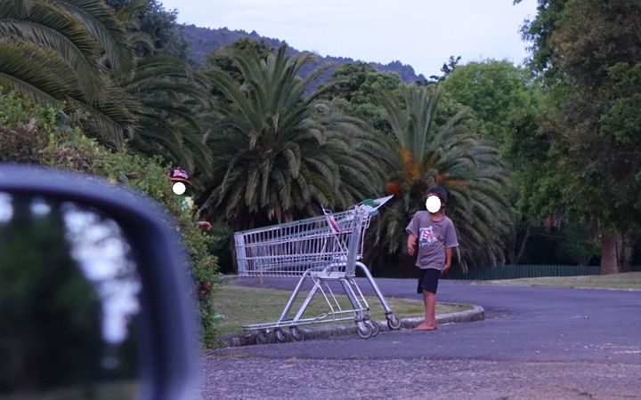 Unsupervised children run amok at dusk in Northland