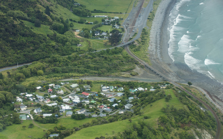 The town of Oaro, just south of Kaikoura.