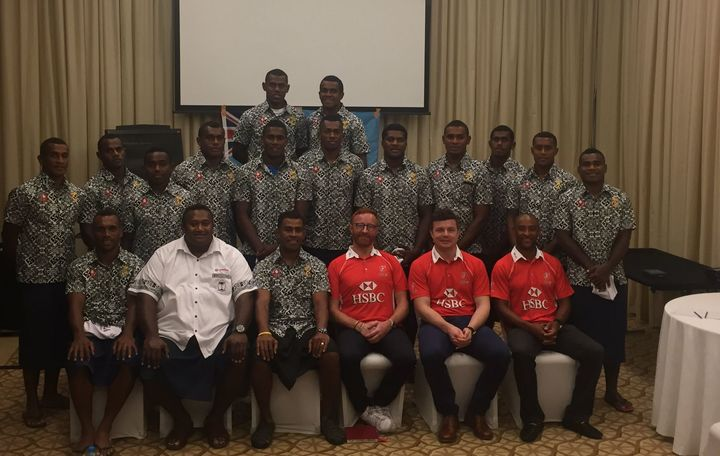 Former coach Ben Ryan and rugby legends George Gregan and Brian O'Driscoll met with the Fiji team in Dubai.