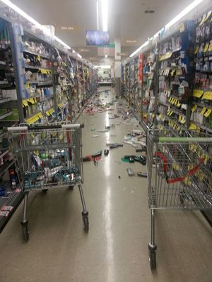 Countdown supermarket in Paraparaumu near Wellington after the quake.