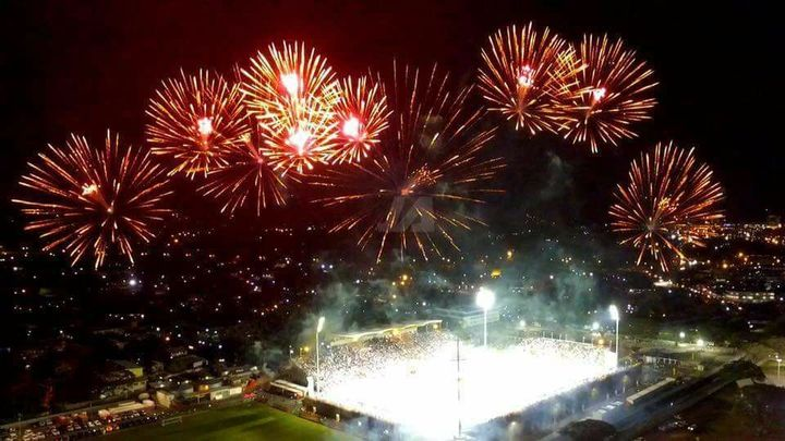 Fireworks celebrate the end of the FIFA Under 20 Women's World Cup in Port Moresby.