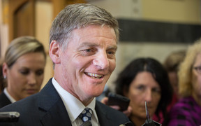 Bill English announcing he will run for job as PM
