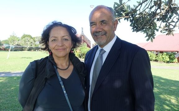 Maori Party co-leaders Marama Fox and Te Ururoa Flavell.