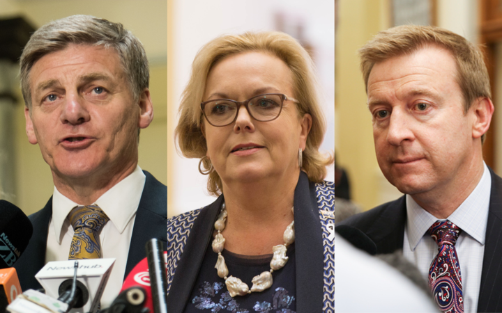 Bill English, Judith Collins, Jonathan Coleman.