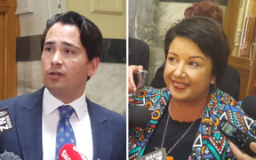 Simon Bridges and Paula Bennett