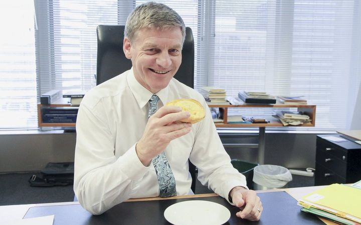 Bill English and his post-Budget pie.