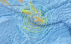 The earthquake was centred 68km west-south-west of Kirakira, Solomon Islands.