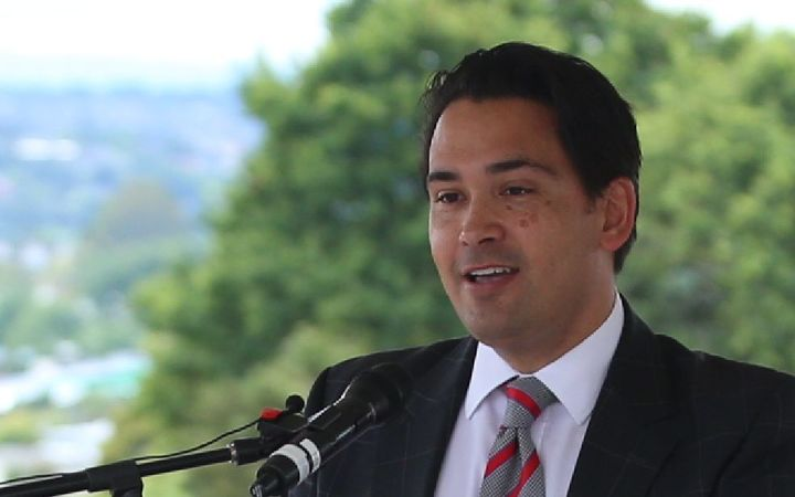 Simon Bridges at the launch of Glenn Innes to Tamaki Dr shared path.