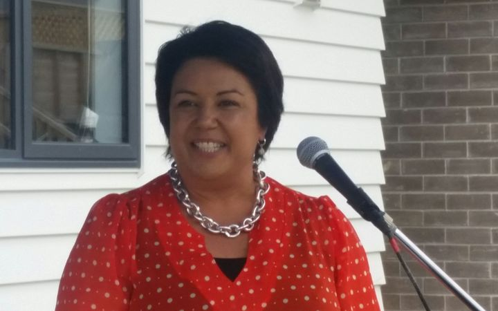 Paula Bennett at the opening of a new social housing development in Glen Eden.