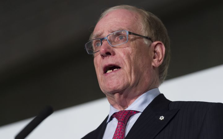 Richard McLaren, head of the World Anti-Doping Agency (WADA)'s independent commission, during a press conference in London on doping abuse in Russian sport.