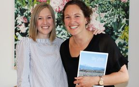 Genevieve King and Julia Macfarlane at the Christchurch book launch.