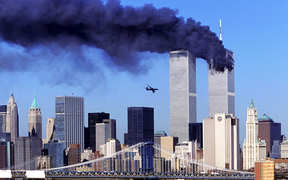 A second plan crashes into the World Trade Centre on September 11, 2001