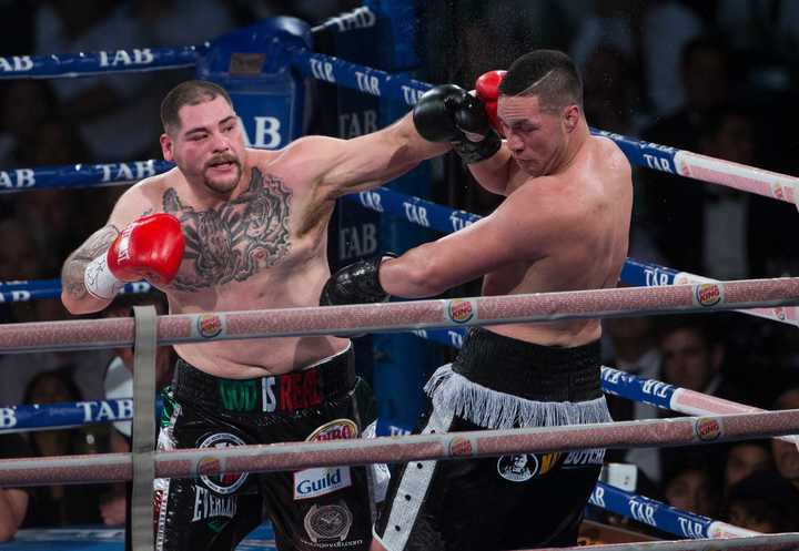 Joseph Parker v Andy Ruiz, WBO world boxing heavyweight title fight, Vector Arena, Auckland, New Zealand.