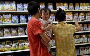 Infant formula on sale in China.