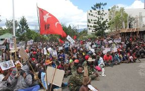West Papuans demonstrate in Wamena, 10 December 2016