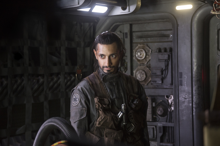 Riz Ahmed as an Empire freighter pilot changing sides in Rogue One