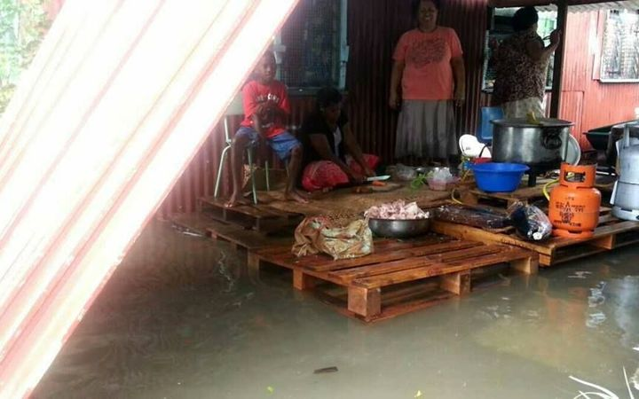 Family affected by Fiji flooding