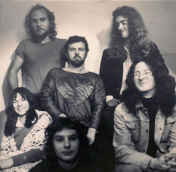 Mammal in 1974. Clockwise from left: Mark Hornibrook, Rick Bryant, Robert Taylor, Tony Backhouse, Kerry Jacobson, Julie Needham