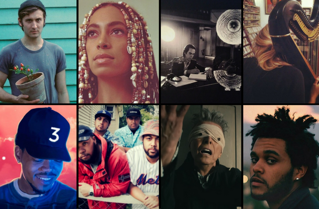 A selection of the best music makers from 2016: D.D.Dumbo, Solange, Nick Cave, Mary Lattimore; Chance The Rapper, SWIDT, David Bowie, The Weeknd.