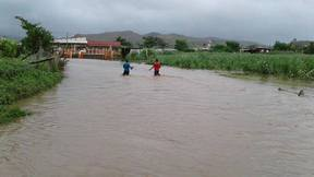 Flooding in the Fiji town of Rakiraki