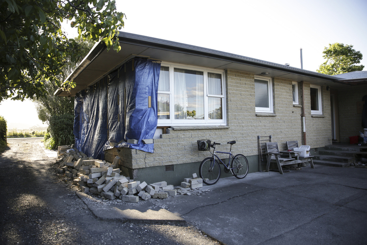 Gary Melville's house was badly damaged in the Kaikoura earthquake.