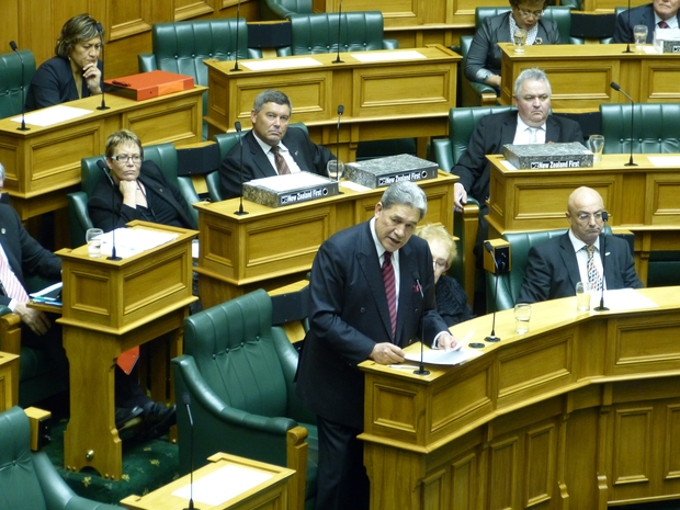 New Zealand First leader Winston Peters in Parliament on Wednesday.