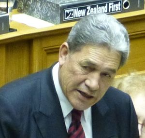 Winston Peters in House.