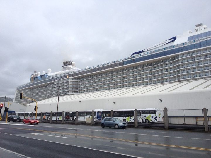 Mega Cruise Liner In Wellington  Radio New Zealand News