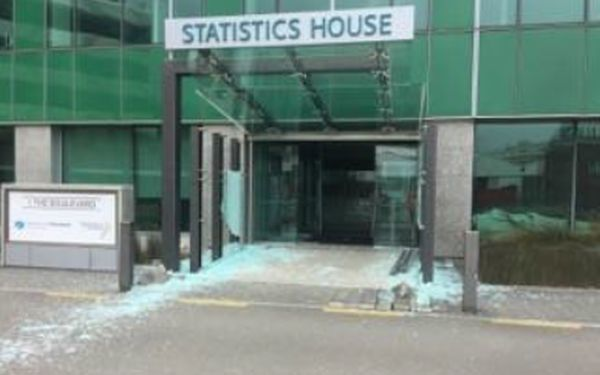Statistics House: damage from 14 November earthquake