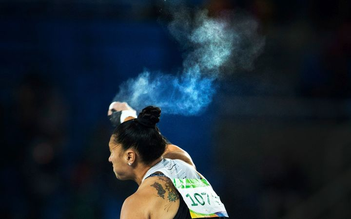 Val Adams in action at the Rio Olympics.