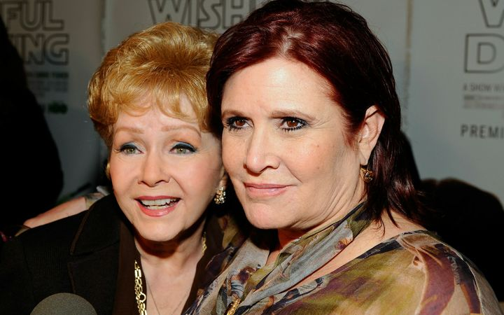 Actresses Debbie Reynolds and Carrie Fisher in 2010.
