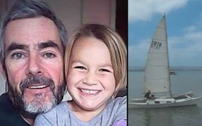 Que Langdon, 6, and her father Alan Langdon have not been heard from since they left Kawhia on their catamaran on 17 December.