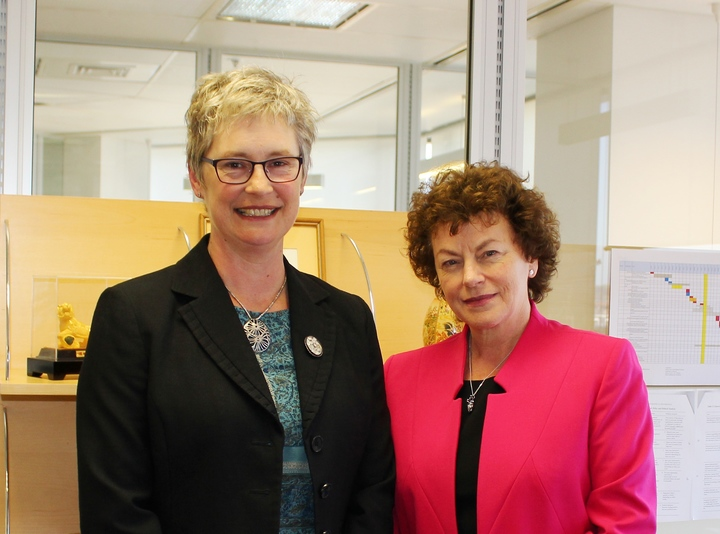 Law Commissioners Helen McQueen and Donna Buckingham.
