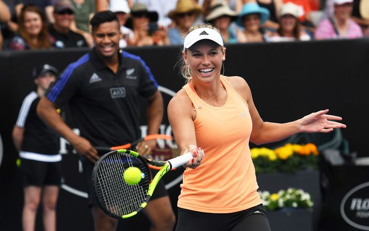 Caroline Wozniacki at the 2016 ASB Classic.