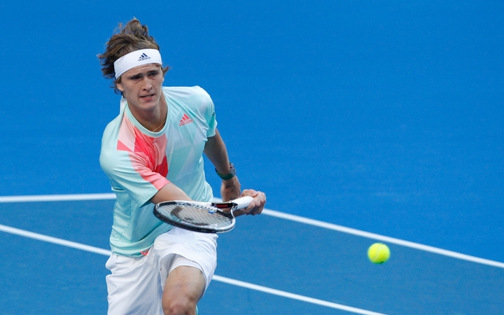 German tennis player Alexander Zverev during his 2017 Hopman Cup win over Roger Federer.