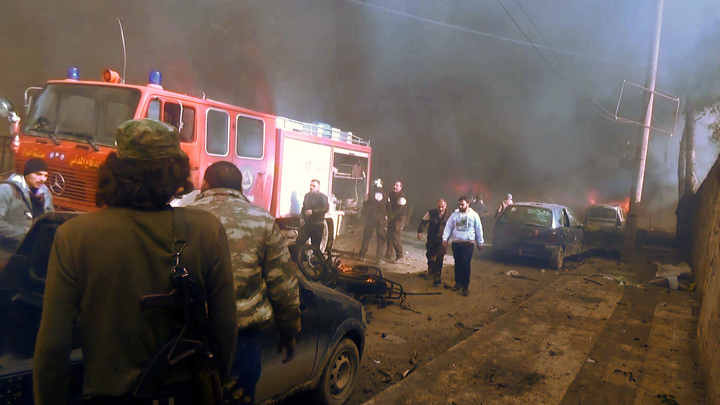 Dozens killed in likely tanker blast in Syria