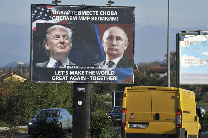 A billboard in Montenegro sums up a possible future policy direction.