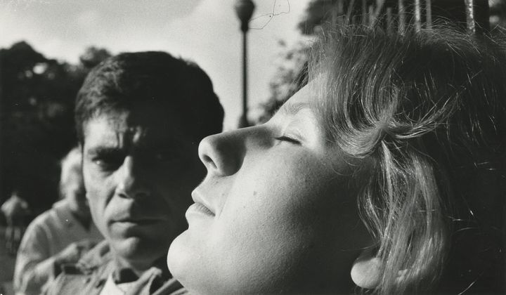 Davos Hanich and Hélène Chatelain in happier times, before the war, in Chris Marker's La Jetée (1962)