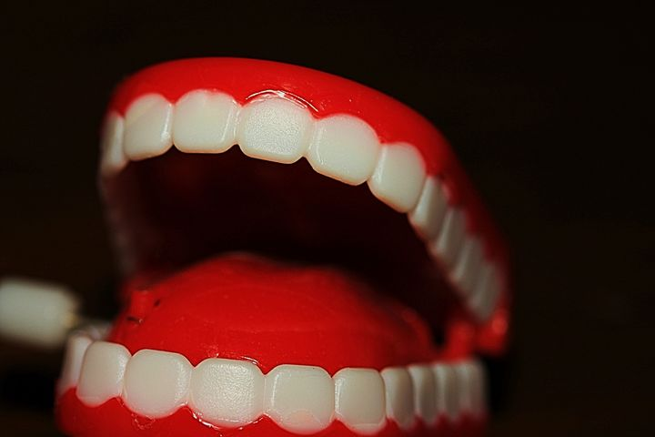 bright false teeth