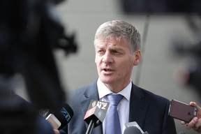 Prime Minister Bill English addresses reporters about his decision not to attend Waitangi Day celebrations.