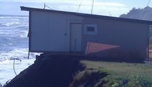 A holiday home at Mokau that has to be removed.