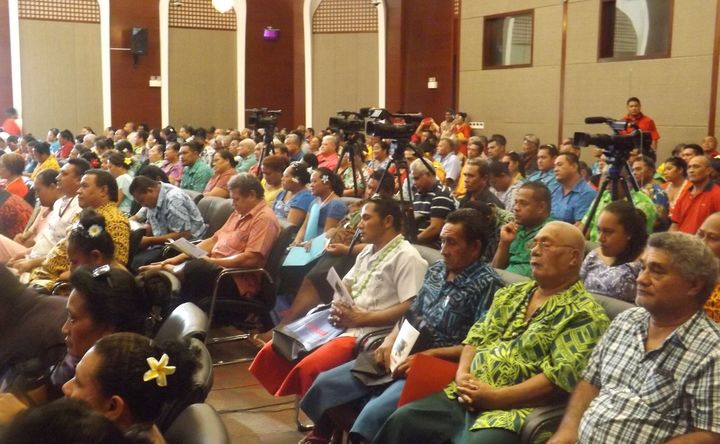 Teachers gather in Apia, Samoa for their annual conference, January 2017