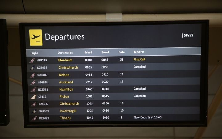 Flights from Wellington airport were delayed.