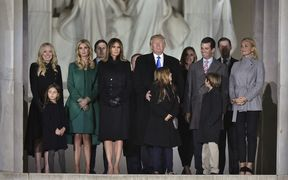 President-elect Donald Trump and his family attended an inauguration concert at the Lincoln Memorial.